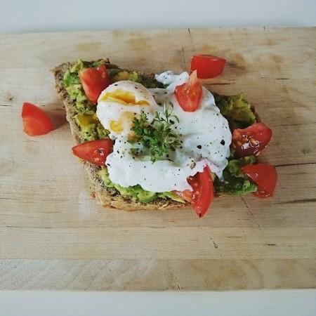 Avocado. Ei. Ein super Frühstück.