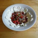 Kichererbsen Salat mit Büffelmozzarella