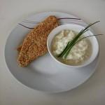 Pangasius in Quinoa-Kruste mit Karfiol Püree