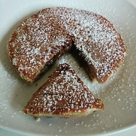 Gefüllte Pancakes – Nutella